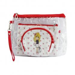 کیف لوازم آرایشی بیوتی طرح عروسک بسته 3 عددی