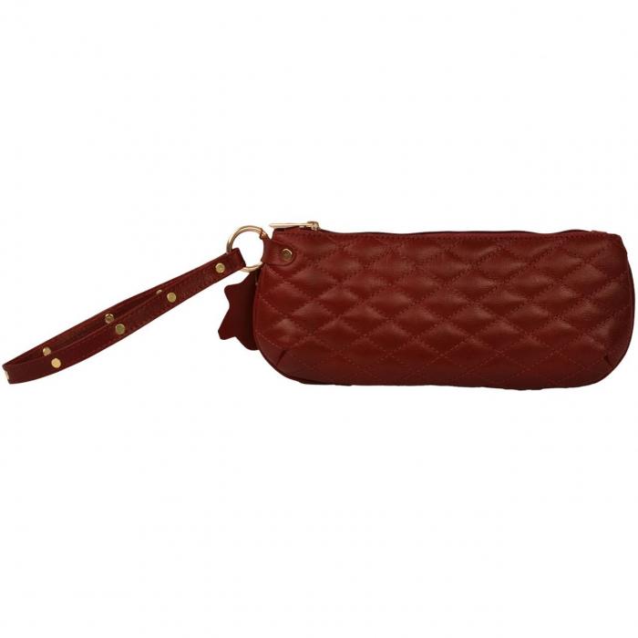 کیف لوازم آرایش کهن چرم مدل A5-12