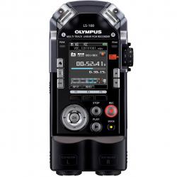 ضبط کننده دیجیتالی صدا الیمپوس مدل LS-100 به همراه کیت اتصال به دوربین