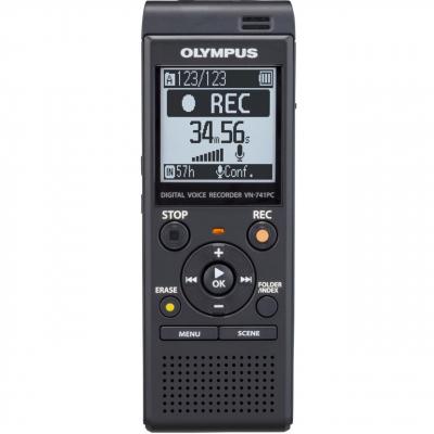 ضبط کننده دیجیتالی صدا الیمپوس مدل VN-741 PC به همراه ایرفون ضبط کننده صدا TP-8
