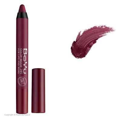 رژ لب مدادی 2 کاره بی یو مدل Color Biggie for Lip and More 285 (زرشکی)