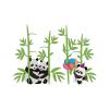 استیکر دیواری سالسو طرح Panda Family