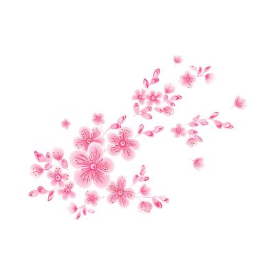 استیکر دیواری سالسو طرح Pink FLowers