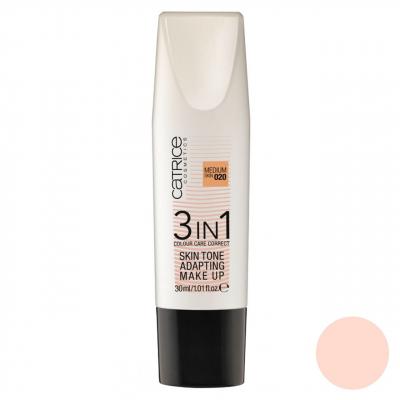کرم پودر کاتریس سری  3 در 1 مدل Skin Tone شماره 020 حجم 30 میلی لیتر