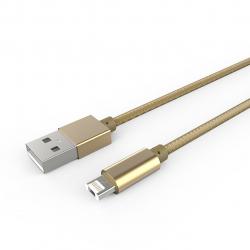 کابل تبدیل USB به microUSB و لایتنینگ الدینیو مدل LC88 به طول 1 متر (طلایی)
