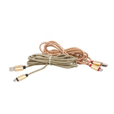 کابل تبدیل USB به microUSB تسکو مدل TC 61 طول 2 متر (طلایی)