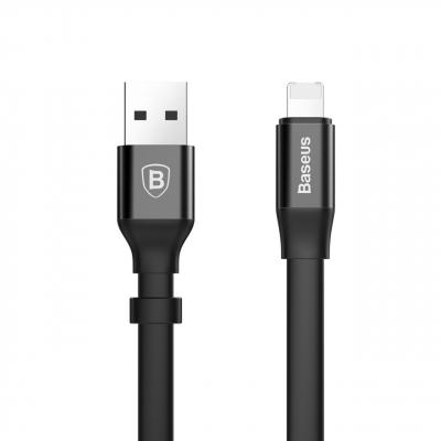 کابل تبدیل USB به لایتنینگ/Micro-USB باسئوس طول 0.23 متر (مشکی)