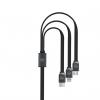کابل تبدیل USB به microUSB و لایتنینگ و USB-C دابلیو کی مدل Platinum به طول 1 متر