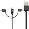 کابل تبدیل USB به microUSB/USB-C/لایتنینگ پرومیت مدل uniLink Trio طول 1.2 متر