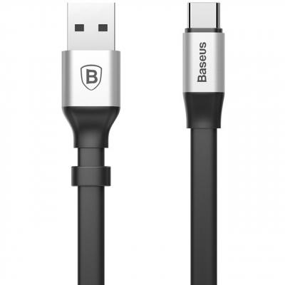 کابل تبدیل USB به USB-C باسئوس مدل Nimble طول 0.23 متر (مشکی)