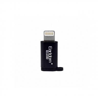 مبدل Micro USB به لایتنینگ ارلدام مدل OT08 (مشکی)