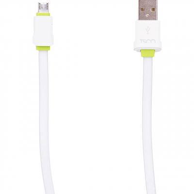 کابل تخت تبدیل USB به microUSB تسکو مدل TC 54 به طول 2 متر (سفید)
