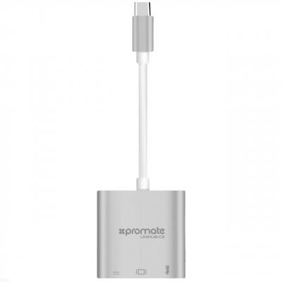 مبدل USB-C به HDMI/USB3.0/USB-C پرومیت مدل uniHub-C2
