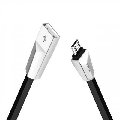 کابل تبدیل USB به microUSB هوکو مدل Rhombic طول 1.2 متر (مشکی)