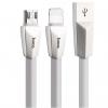 کابل تبدیل USB به microUSB و لایتنینگ هوکو مدل X4 طول 1 متر