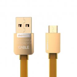 کابل USB به MicroUSB ریمکس مدل Gold Safe and Speed به طول 1متر