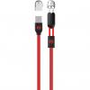 کابل تبدیل USB به microUSB و لایتنینگ دبلیو کی مدل Data Lines 2 In 1 به طول 1 متر