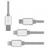 کابل تبدیل USB به Micro USB و لایتنینگ کوتتسی مدل M8 3 in 1 به طول 1.2 متر