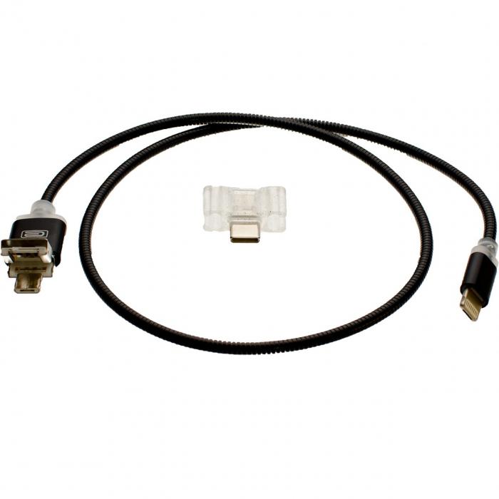 کابل تبدیل USB به لایتنینگ/USB-C ارلدام مدل 8in1 به طول 1 متر