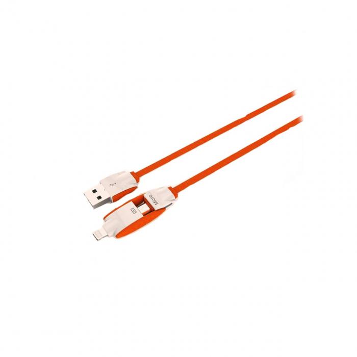 کابل تبدیل USB به لایتنینگ و microUSB امی مدل my 442 به طول 1 متر