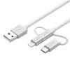 کابل تبدیل USB به microUSB/USB-C/لایتنینگ یوگرین مدل US186 طول 1 متر