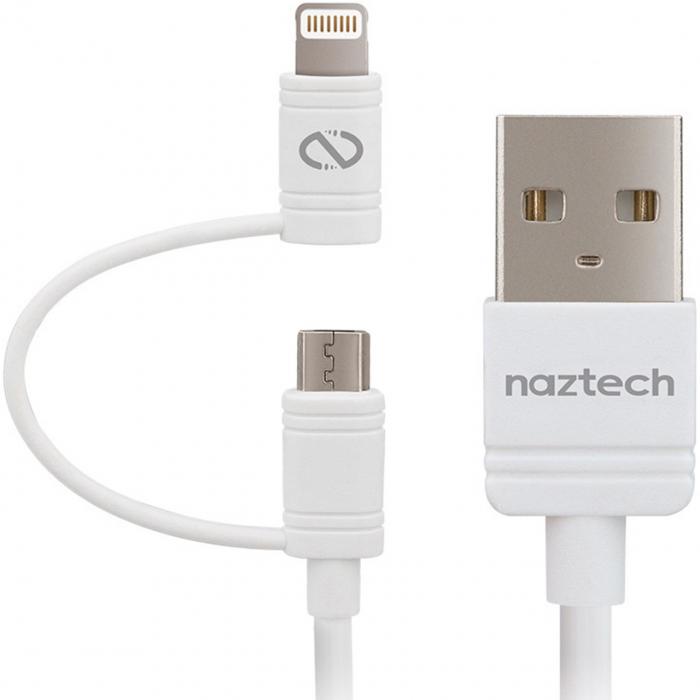 کابل تبدیل USB به لایتنینگ/microUSB نزتک مدل Hybrid طول 1.8 متر