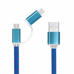 کابل تبدیل USB به Lightning و microUSB  تامزآپ مدل USB2N1BPM به طول 0.2 متر
