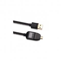 کابل انتقال دیتا و شارژر میکرو USB با قابلیت نمایش ولتاژ و جریان