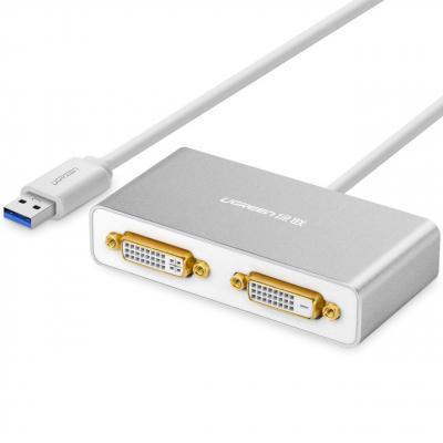 مبدل USB 3.0 به Dual DVI یوگرین مدل 40246
