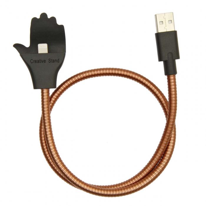 کابل تبدیل USB به لایتنینگ سومگ مدل Flexible به طول 54 سانتی متر