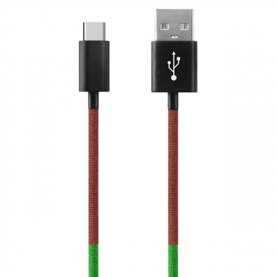 کابل تبدیل USB به USB-C ود اکس مدل C-20 به طول 1 متر (چند رنگ)