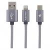کابل تبدیل USB به لایتنینگ و USB-C اوی مدل CL-984 به طول 1 متر