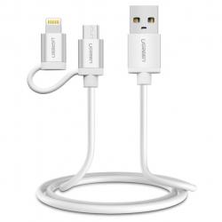 کابل تبدیل USB به لایتنینگ و microUSB یوگرین مدل US165 طول 1 متر