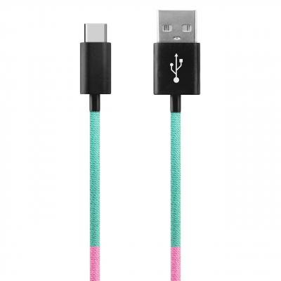 کابل تبدیل USB به USB-C ود اکس مدل C-26 به طول 1 متر (چند رنگ)