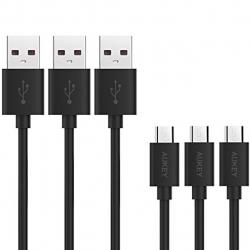 کابل تبدیل USB به microUSB آکی مدل CB-D10 طول 1.2 متر