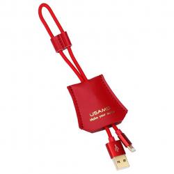 کابل تبدیل USB به لایتنینگ یوسمز مدل US-sj117 به طول 30 سانتی متر