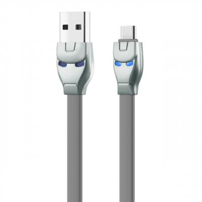 کابل تبدیل USB به Type-c هوکو مدل U14 Steel به طول 1.2 متر (خاکستری)