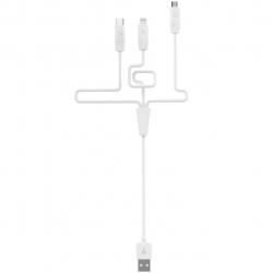کابل تبدیل USB به لایتنینگ/microUSB/USB-C هوکو مدل X1 Rapid طول 1 متر