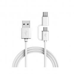 کابل تبدیل USB به microUSB/USB-C سامسونگ مدل YD/T 1591-2009 طول 1.5 متر