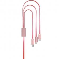 کابل تبدیل USB به لایتنینگ/microUSB/USB-C هوکو مدل UPL12 Rapid طول 1 متر