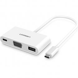 مبدل یوگرین مدل 30376 USB-C To VGA Digital AV Multiport