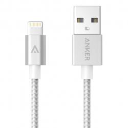 کابل تبدیل USB به لایتنینگ انکر مدل A7136 Nylon-Braided به طول 90 سانتی متر