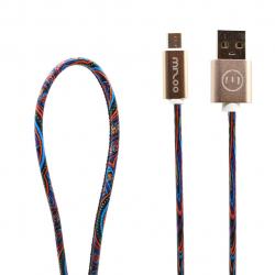 کابل تبدیل USB به microUSB مدل Graffiti AN 06 به طول 1 متر