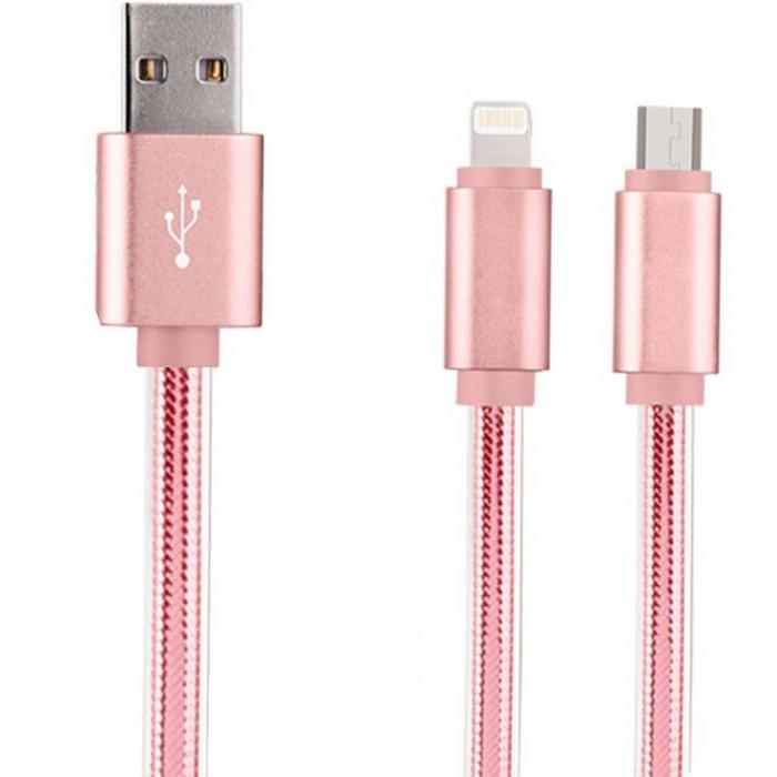 کابل تبدیل USB به microUSB و لایتنینگ هوکو مدل UPL12 طول 1 متر