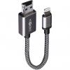 کابل تبدیل USB به لایتنینگ انرجیا مدل Alumemo 2 In 1 Charging And Storage طول 0.17