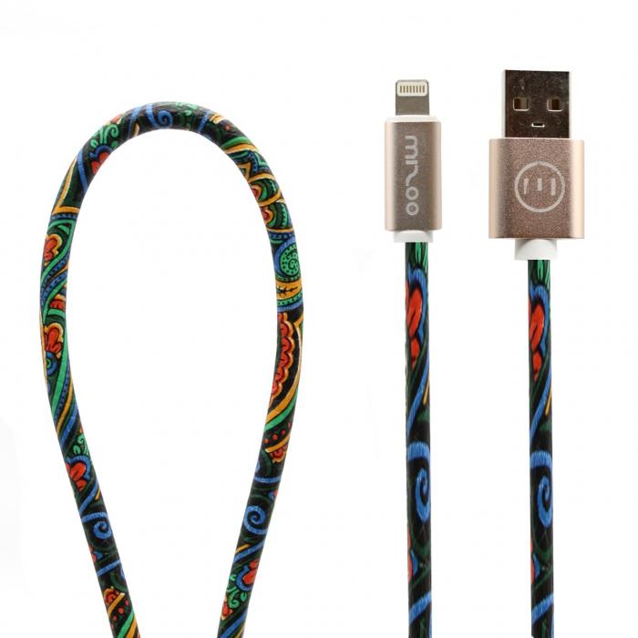 کابل تبدیل USB به لایتنینگ مدل Graffiti AP 05 به طول 1 متر