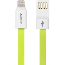کابل تخت تبدیل USB به لایتنینگ پایزن مدل AL03-800F طول 0.8 متر