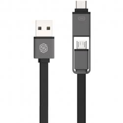 کابل تبدیل USB به MicroUSB و USB-C نیلکین مدل Plus به طول 1.2 متر