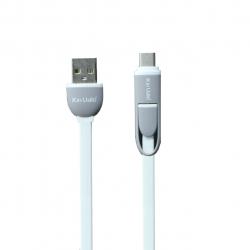 کابل تبدیل USB به لایتنینگ و microUSB کین یال مدل WG به طول 1.3 متر