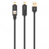 کابل تبدیل USB به microUSB و لایتنینگ اوریکو مدل LTE-10 به طول 1 متر